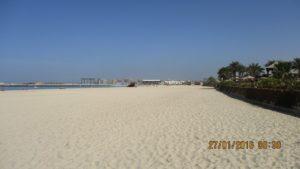 Нашият плаж, а зад него са небостъргачите.