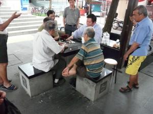 хванах китайци да пушат